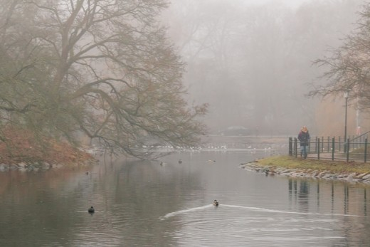 Peaceful scene belies the chilly damp