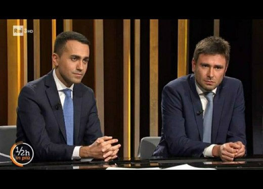"""These are two young politicians of the """"Movimento 5 Stelle"""" party. This new party bases its policies in a new direction. The direction is not clear, but they will avoid the same mistakes of the previous government. They are okay."""