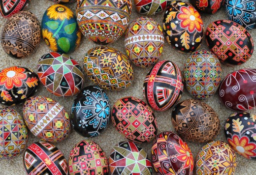 Pysanky Decorated Eggs From Ukrania
