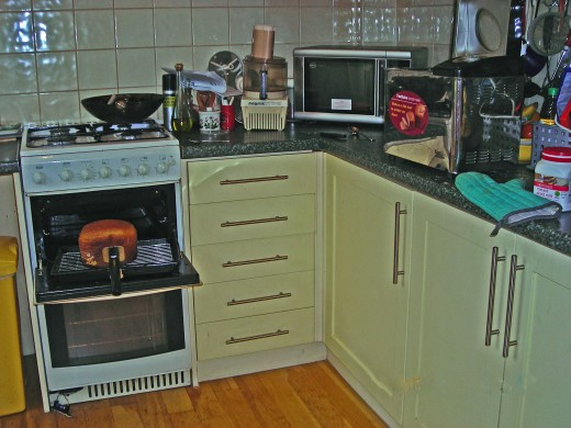I'm going to tell you the upsetting story about my cooker, which you can see on the left