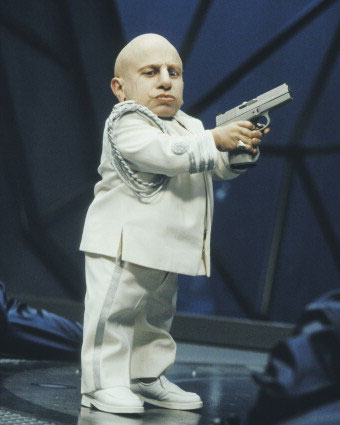 Troyer's psychotic Mini-Me is an undoubted highlight.
