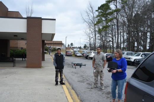 Heather Reichel demonstrating using a drone.