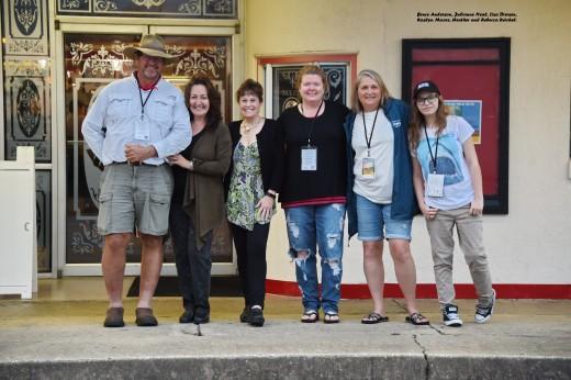 Bruce Anderson, Julianne Neal, Lisa Diersen, Roslyn Moore, Heather and Rebecca Reichel.