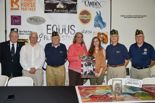 Heather and Rebecca Reichel with members from American Legion Post #17.