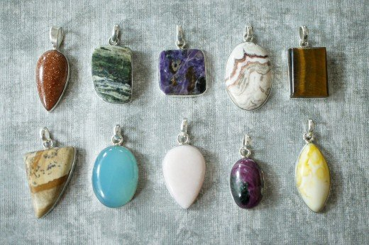 Gem stones are traditional in jewelry making.