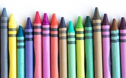 Learn to Make a Fun Craft: Melted Crayon Rainbow