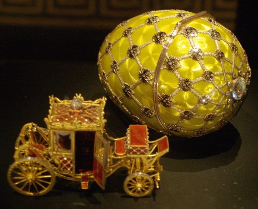 The Coronation Egg in the Fabergé Museum, St. Petersburg, Russia