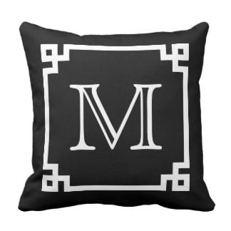 Monogrammed Pillow available on ZAZZLE