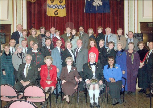 Delegation from Pendleton, SC to Stornoway for the Twinning Ceremony he 36 Member Pendleton Delegation - This is the delegation that traveled to Stornoway Scotland in 2002