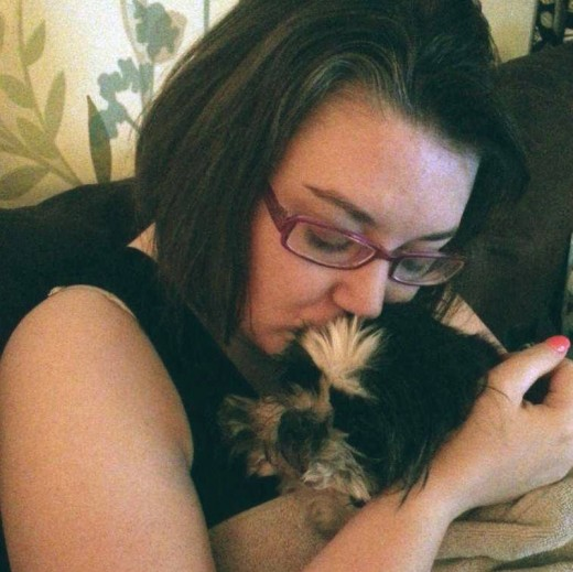 Me with Princess the night before we put her down. I was getting in some quality time with her while I could.