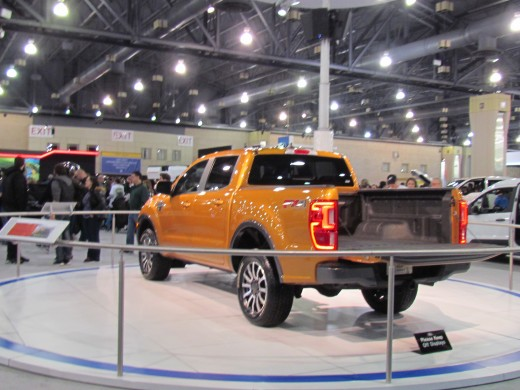 One of the cutest little trucks at the Auto Show was the 2018 FX4 Ford Truck. It was featured as one of the off road vehicles.