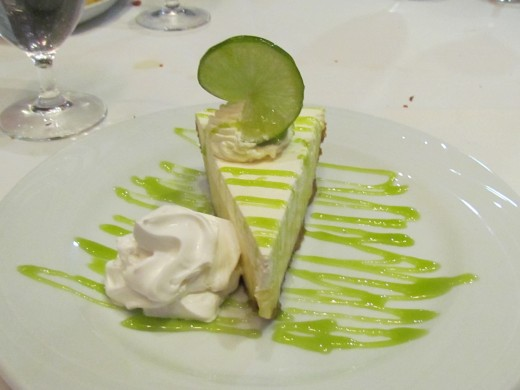 My dessert consisted of an amazingly delicious key lime pie.