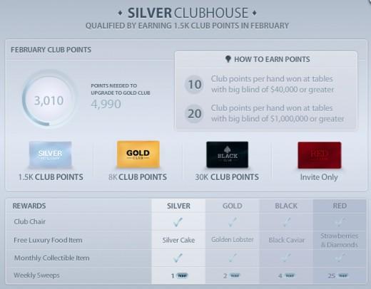 The Zynga Poker Clubhouse screen.