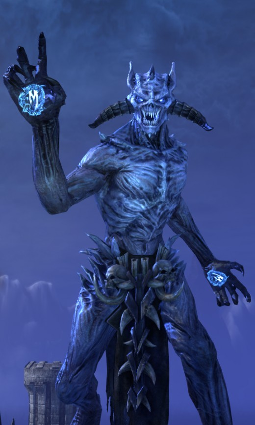 Molag BAAL, God of Schemes, the King of Rape, the Harvester of Souls, the Lord of Brutality, and the Prince of Rage.