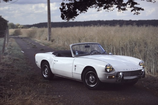 A Triumph Spitfire car like the one my brother had in the 1970s