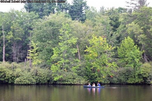 Canoeing in Price Lake