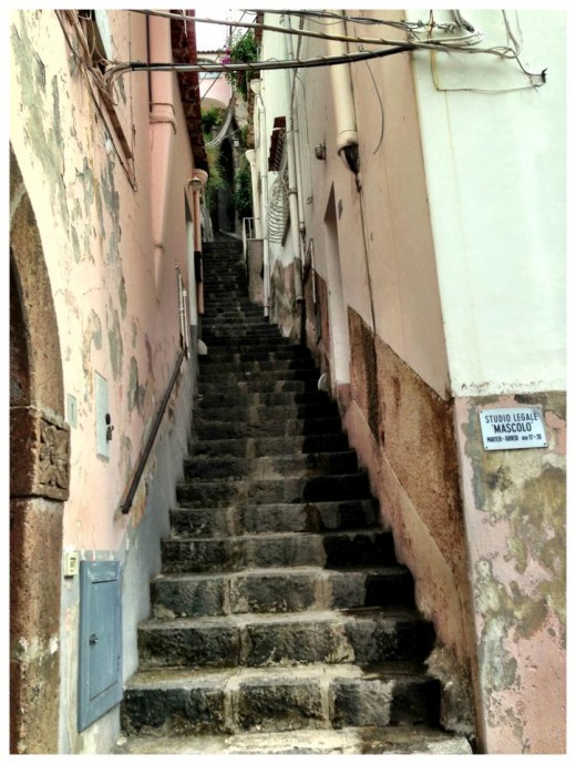 These stairs were all over town, leading to peoples private residences.