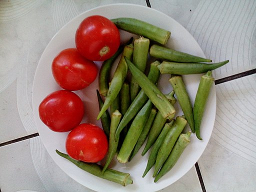 Tomatoes and okra make a great pair!