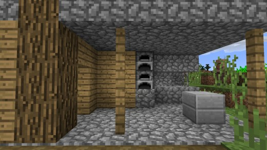 Blacksmith shops are often found in spawned villages, along with a Blacksmith.