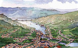 Artistic view of Lavasa's first town, Dasve
