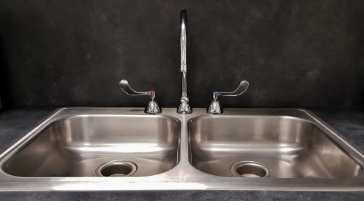 The stems for this faucet will be found in the handles.