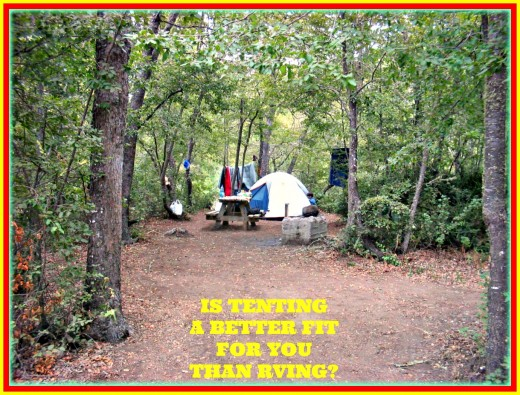 A comparison of the pros and cons of tent camping and RVing.