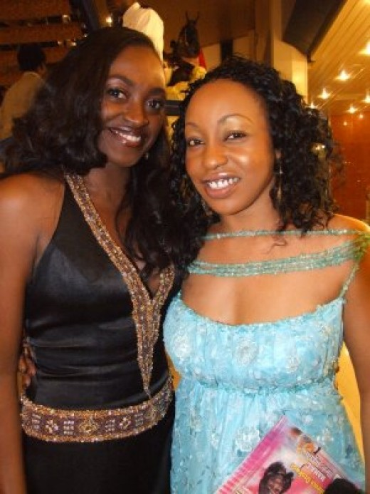 Actresses Kate Henshaw (left) and Rita Dominic (right)