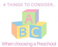 4 Things To Consider Before Choosing A Preschool