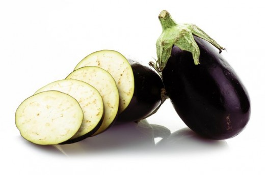 Eggplant, also known as Aubergine or Brinjal.