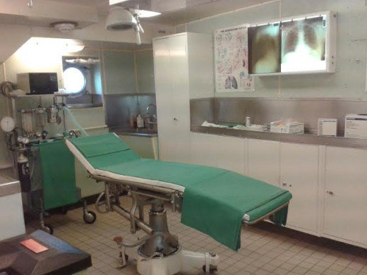 The operating theatre on the Royal Yacht Britannia