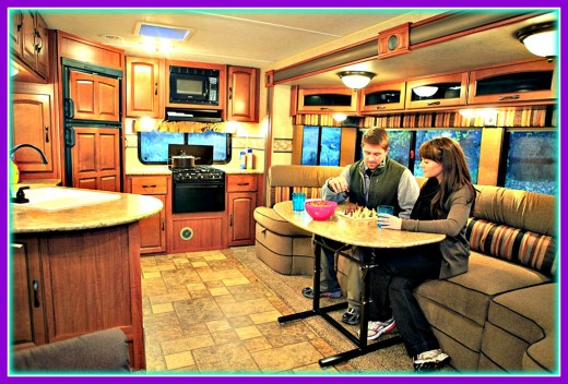 Many people choose to live in recreational vehicles, love doing it and save a great deal of money, too.