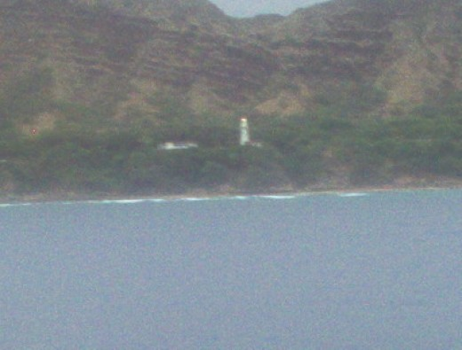 Lighthouse on the shore.