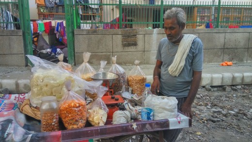 A pleasant vendor we met during our travels. While speaking with him, he told us about his family of four kids, and how he had been selling nuts and other snacks for almost 18 years of his life.