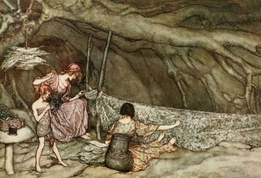 Certain fairies were known to be wonderful seamstresses. You were lucky to attract these beings to your home.