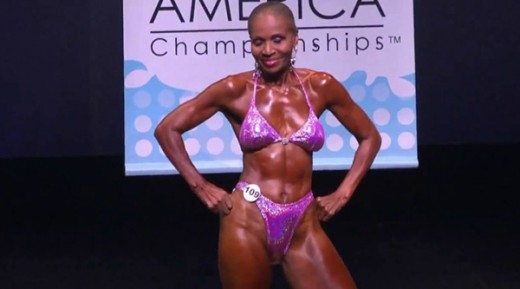 Ernestine Shepard. Professional body builder and a woman who is beautiful. (She is 80 years old in this photo!)