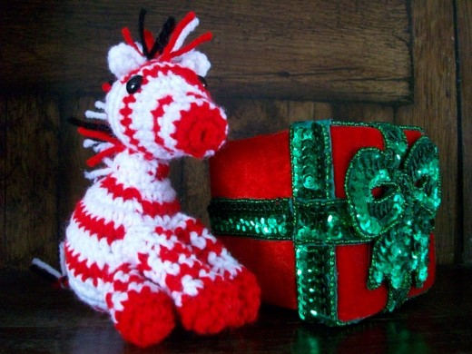 Visit Emily at My Crocheted World for this adorable FREE peppermint zebra pattern!