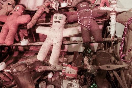 Voodoo dolls at the voodoo museum