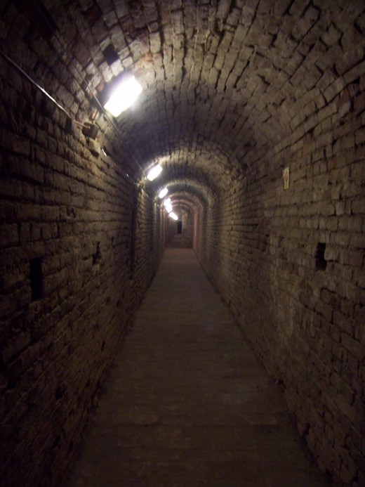 Hall of ghosts - Internal walkways of the Malatesta Fortress of Cesena