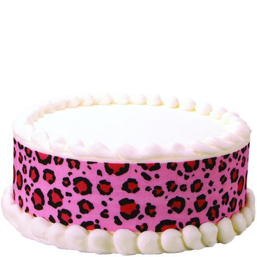 Fun bright pink leopard print cake!