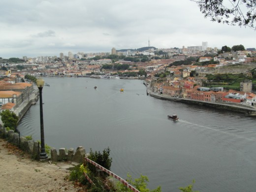 View towards Vila Nova de Gaia from Jardim do Palacio de Crystal.