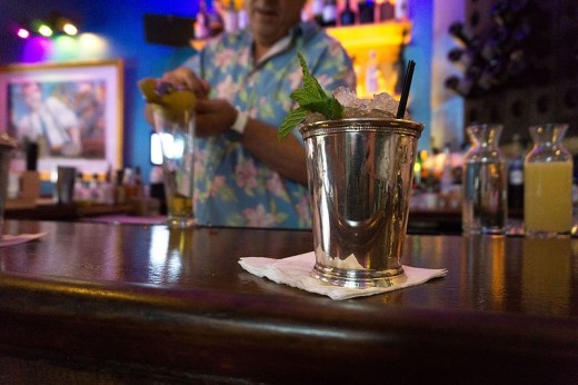 Purists will insist that a Mint Julep be made in a silver cup, photo by Jami430