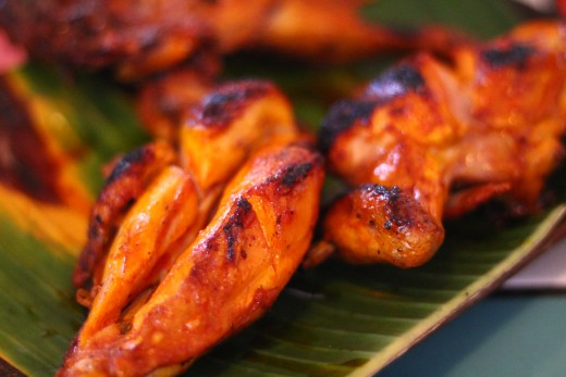 Bacolod's special chicken inasal. How it's marinated is a secret, the taste is distinctive of Bacolod city.