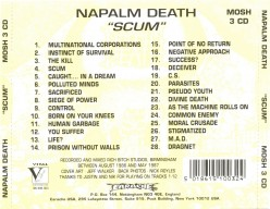 Review of the Album Scum by British Death Metal Band Napalm Death (1987)
