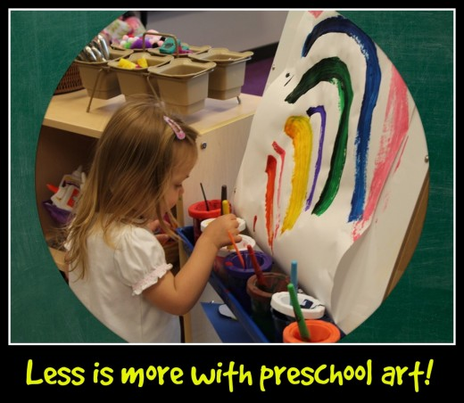 The creative process is relaxing, stimulating, and fun. Kids should want to do art. With teacher-directed art projects, children get robbed of their creativity and initiative.