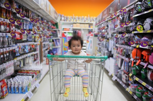 Shopping online gives you all the choice of a physical store, but without the kids in tow.