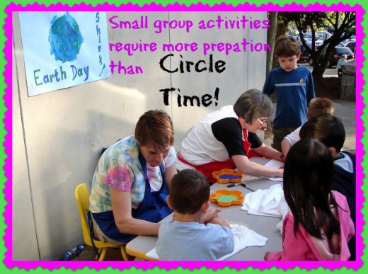 It takes time and effort to plan small group activities, but Circle Time involves little or no preparation. Many preschool teachers aren't paid for prep time.