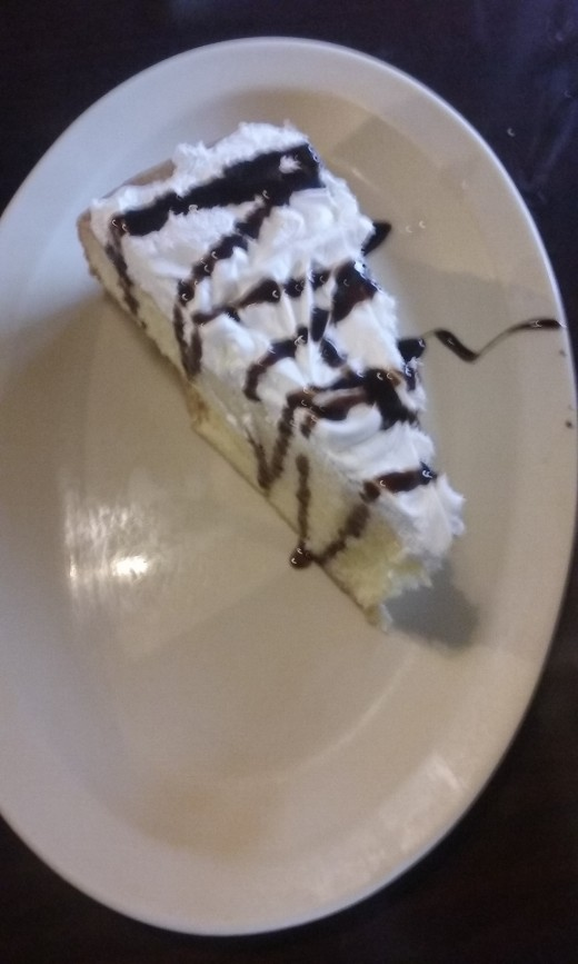 Tres leches cake drizzled with a rich chocolate sauce, served at La Bamba Mexican cuisine restaurant in Greensboro, North Carolina