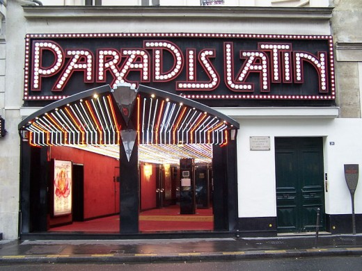 Paradis Latin Nightclub in the Latin Quarter of Paris The Paradis Latin Nightclub in Paris. The architect who designed this building was the M. Eiffel who also designed the Eiffel Tower.