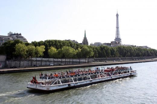 Bateau Mouche on the River Seine in Paris