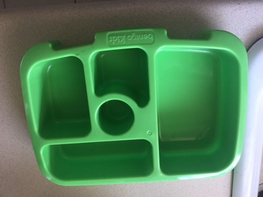 View of the Bentgo bento box with the lid off.